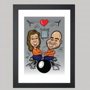 Cell Mates Anniversary Digital Caricature