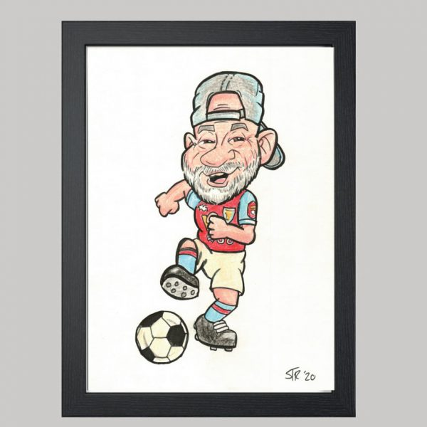 Football Player 1 Hand Drawn Colour Caricature 1