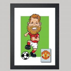 football player 1 digital manchester united kit