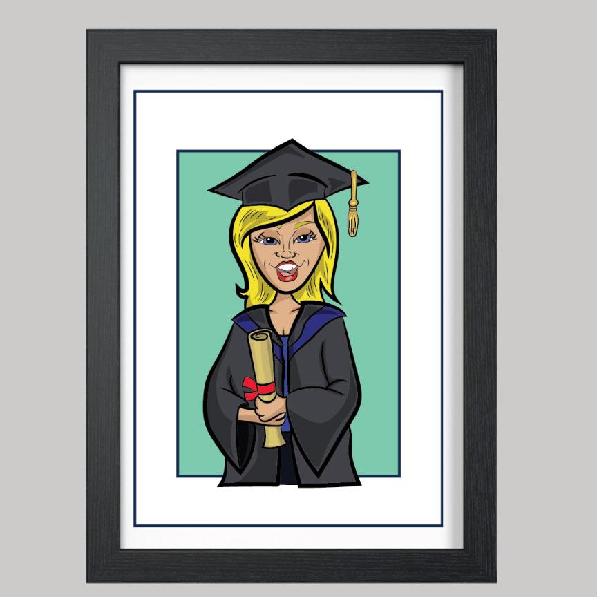 graduation style 1 digital caricature