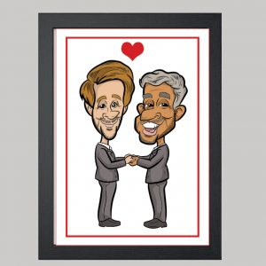 mr and mr digital caricature