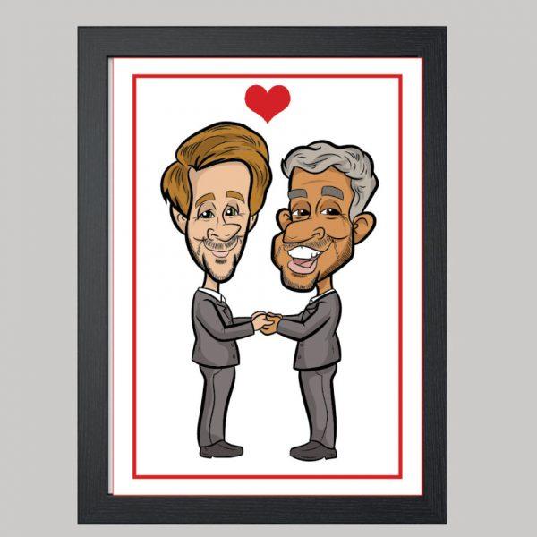 mr and mr digital caricature