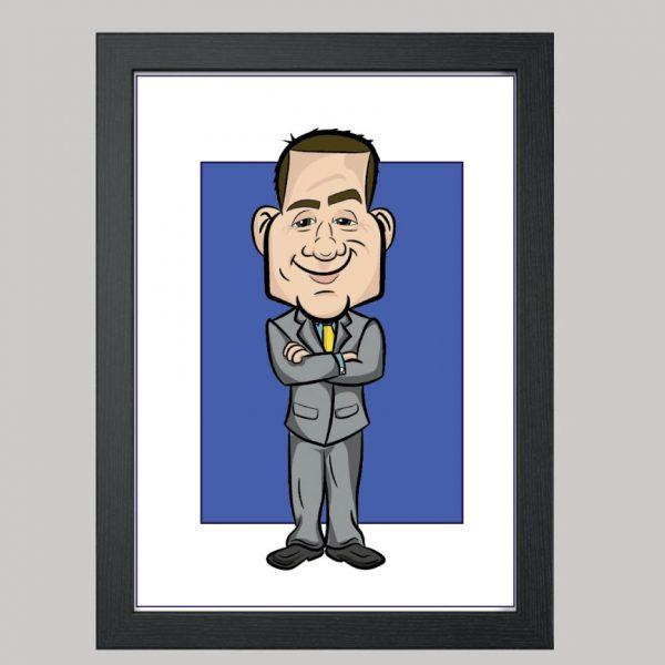 the boss digital caricature