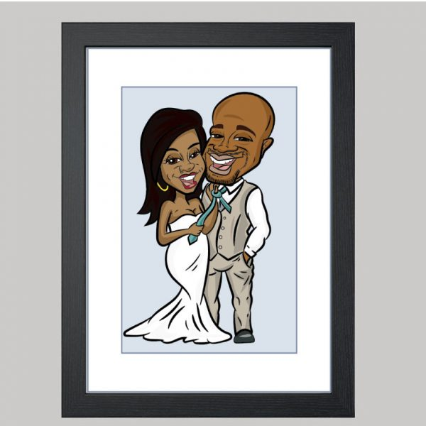 tying the knot digital caricature