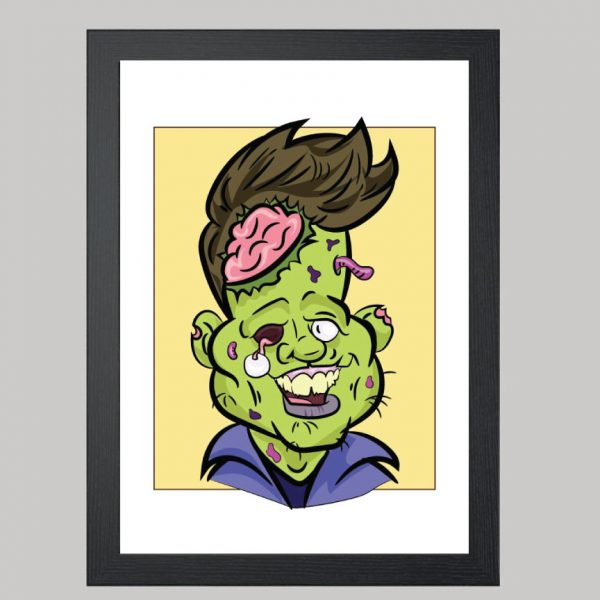 zombie portrait digital caricature