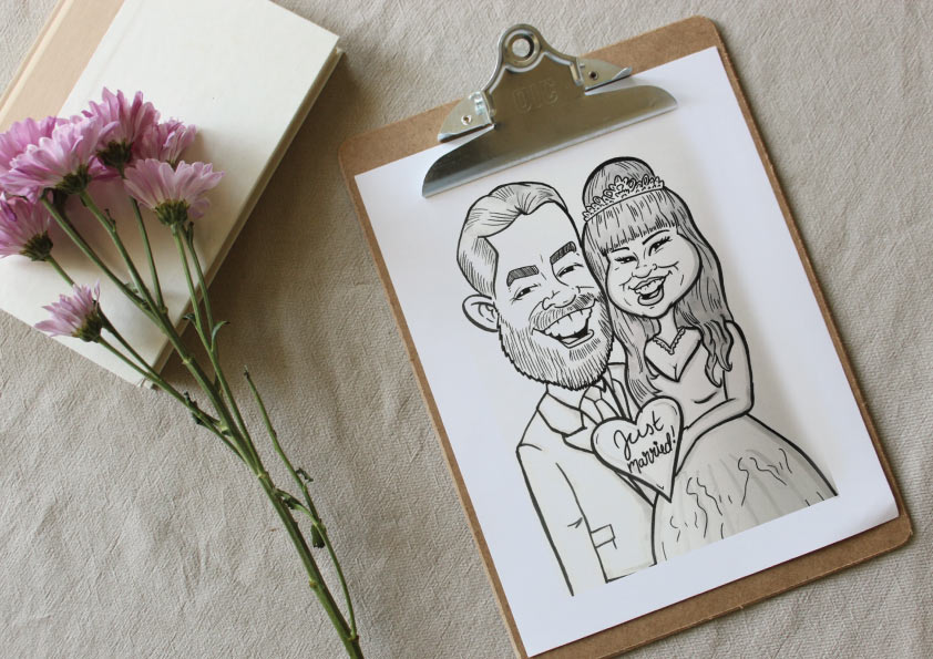 live event hand drawn caricature